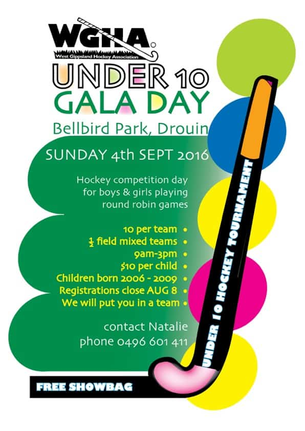 wgha GALA DAY A4 POSTER